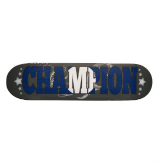 Laotian and a Champion Skateboard