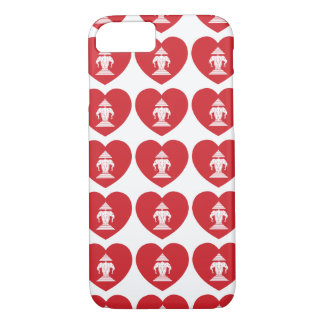 Laotian Erawan 3 Headed Elephant Heart Flag iPhone 7 Case