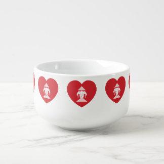 Laotian Erawan 3 Headed Elephant Heart Flag Soup Mug