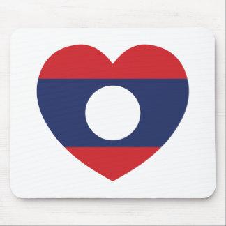 Laotian Heart Flag Mouse Pad