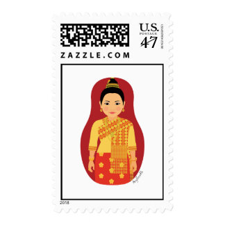Laotian Matryoshka Stamps