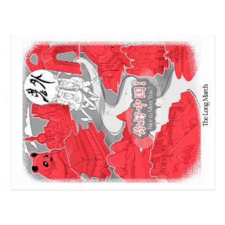 Laowai - The Long March Postcard