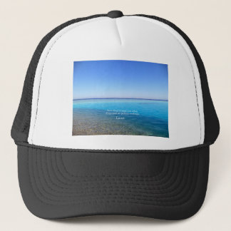 Laozi inspirational quote about NEW BEGINNINGS Trucker Hat