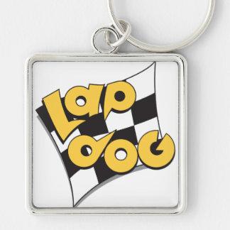 Lap Dog Flag - auto racing fan's keychain