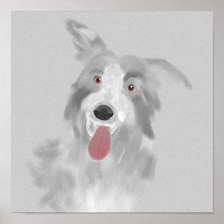 lap dog portrait poster