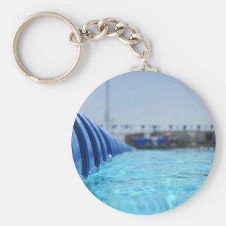 Lap Swim Basic Round Button Keychain
