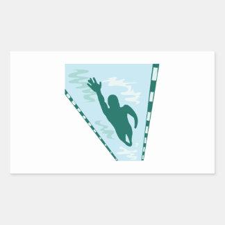 Lap Swimmer Rectangular Sticker