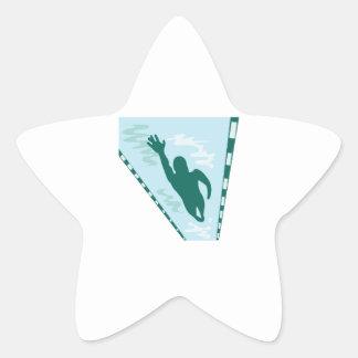 Lap Swimmer Star Sticker