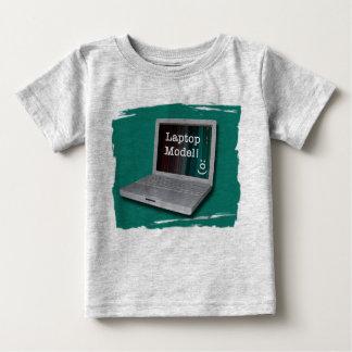 Lap-top Model Baby T-Shirt