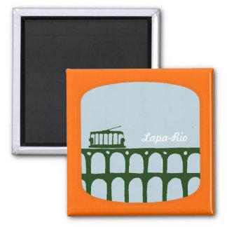 Lapa Archs Rio De Janeiro Brazil 2 Inch Square Magnet