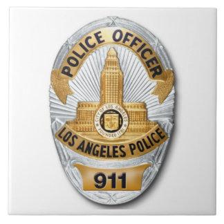 LAPD Badge Large Square Tile