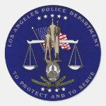 LAPD PEGATINA REDONDA