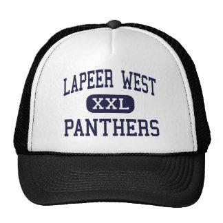 Lapeer West - Panthers - High - Lapeer Michigan Trucker Hat