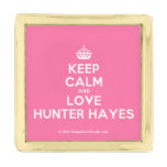 [Crown] keep calm and love hunter hayes  Lapel Pin
