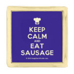 [Chef hat] keep calm and eat sausage  Lapel Pin