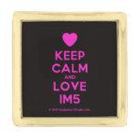 [Love heart] keep calm and love im5  Lapel Pin