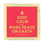 [Xmas tree] keep calm and make peace on earth  Lapel Pin