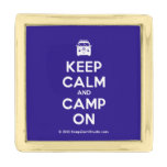 [Campervan] keep calm and camp on  Lapel Pin