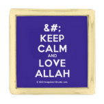 [No Crown] keep calm and love allah  Lapel Pin