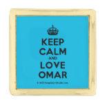 [Crown] keep calm and love omar  Lapel Pin