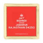 [Crown] jat' bishnoi chadi jodhpur rajasthan-342312  Lapel Pin