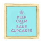 [Cupcake] keep calm and bake cupcakes  Lapel Pin