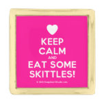 [Love heart] keep calm and eat some skittles!  Lapel Pin