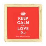 [Crown] keep calm and love pj  Lapel Pin