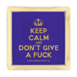 [Dancing crown] keep calm and don't give a fuck  Lapel Pin