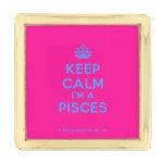 [Crown] keep calm i'm a pisces  Lapel Pin