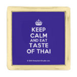 [Crown] keep calm and eat taste of thai  Lapel Pin