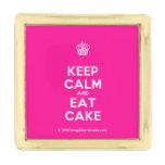 [Cupcake] keep calm and eat cake  Lapel Pin