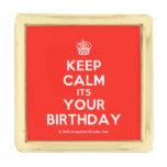 [Cupcake] keep calm its your birthday  Lapel Pin