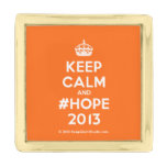 [Crown] keep calm and #hope 2013  Lapel Pin
