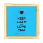 [Love heart] keep calm and love cma  Lapel Pin