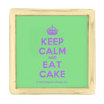 [Crown] keep calm and eat cake  Lapel Pin