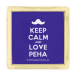 [Moustache] keep calm and love peha  Lapel Pin