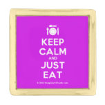 [Cutlery and plate] keep calm and just eat  Lapel Pin