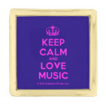 [Dancing crown] keep calm and love music  Lapel Pin