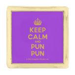 [Crown] keep calm and pun pun  Lapel Pin