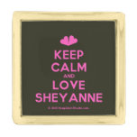 [Two hearts] keep calm and love sheyanne  Lapel Pin