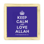 [Crown] keep calm and love allah  Lapel Pin