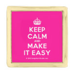 [Crown] keep calm and make it easy  Lapel Pin