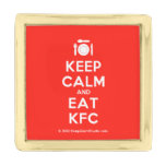 [Cutlery and plate] keep calm and eat kfc  Lapel Pin