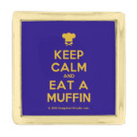 [Chef hat] keep calm and eat a muffin  Lapel Pin