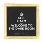 [Crown] keep calm and welcome to the dark room  Lapel Pin