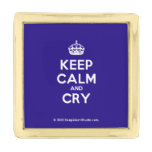 [Crown] keep calm and cry  Lapel Pin