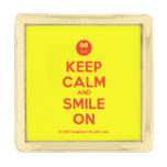 [Smile] keep calm and smile on  Lapel Pin