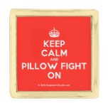 [Crown] keep calm and pillow fight on  Lapel Pin
