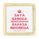 [Crown] saya bangga menggunakan bahasa indonesia  Lapel Pin